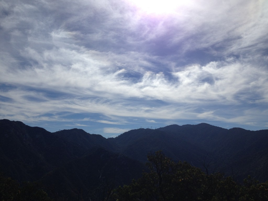 San Gabriels with Clouds