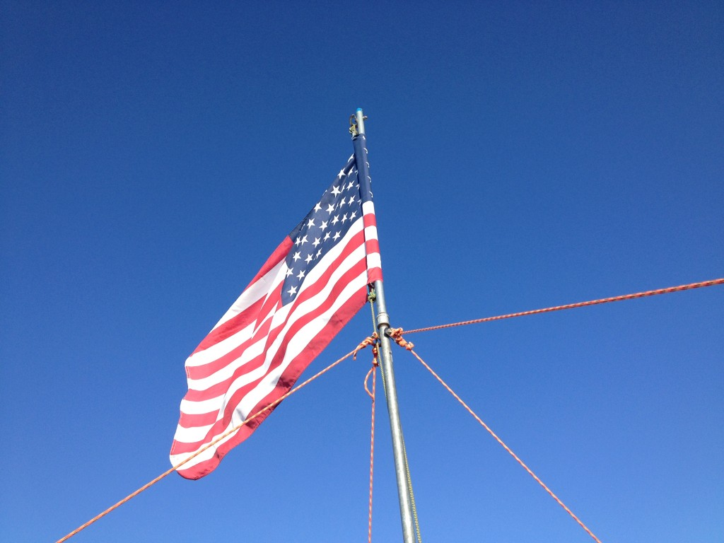 Flag at Mt. Rex