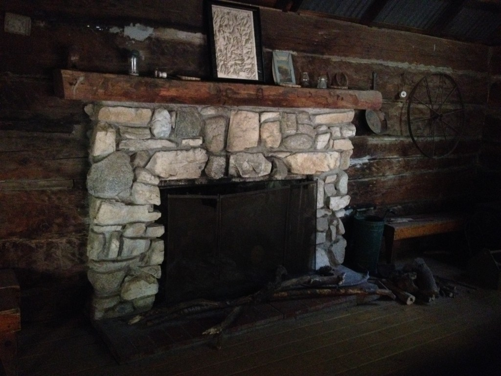 Fireplace at Sturtevant Ranger Cabin